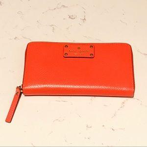 Kate Spade Wellesley Neda coral wallet